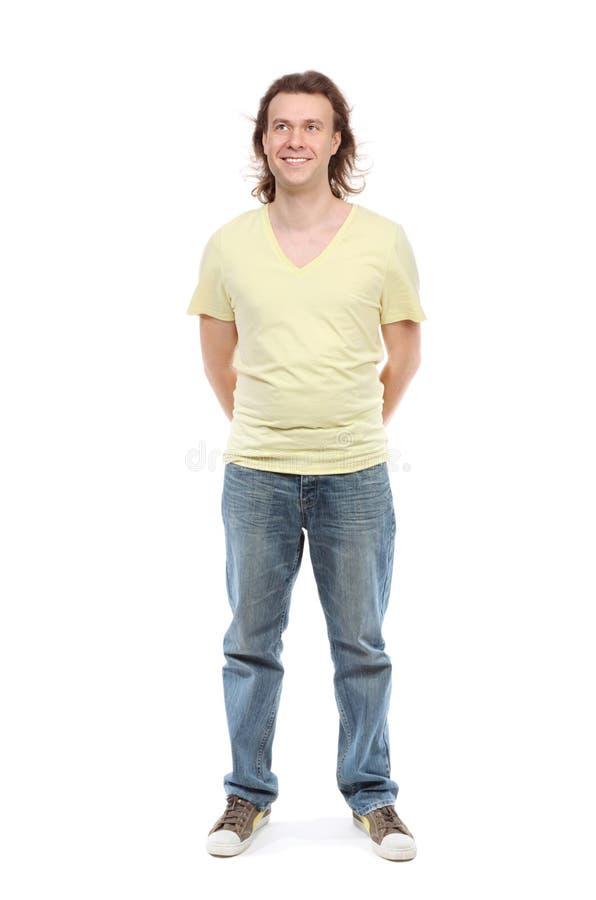 Retrato cheio do comprimento do homem adulto imagens de stock royalty free