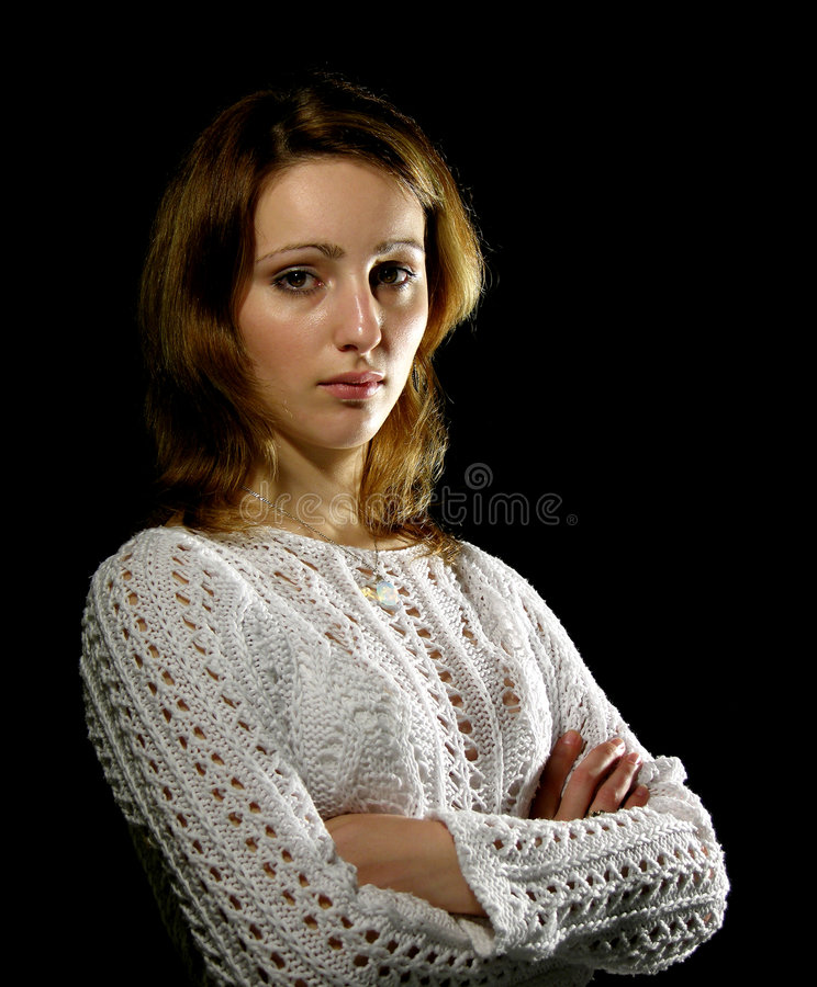 Retrato clássico de uma rapariga imagens de stock royalty free