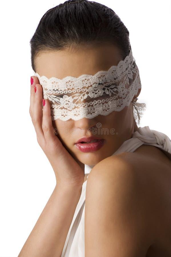 Download Retrato com máscara foto de stock. Imagem de beleza, elegante - 12805150