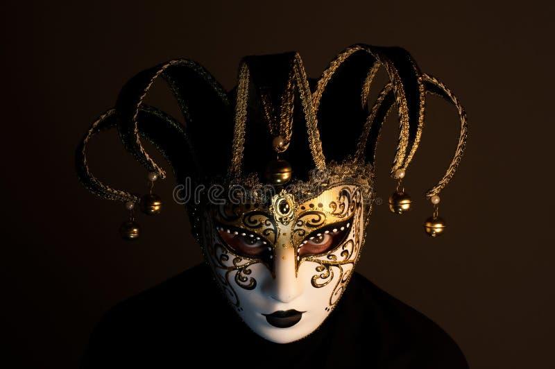 Retrato com máscara de Veneza foto de stock