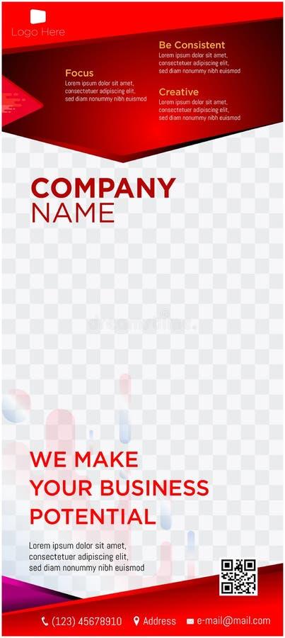 Retrato comercial de la web de las etiquetas de los jefes de la página web de la empresa de negocios de la bandera ilustración del vector
