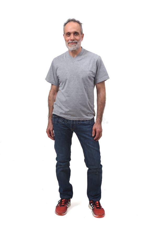 Retrato completo de um homem imagem de stock