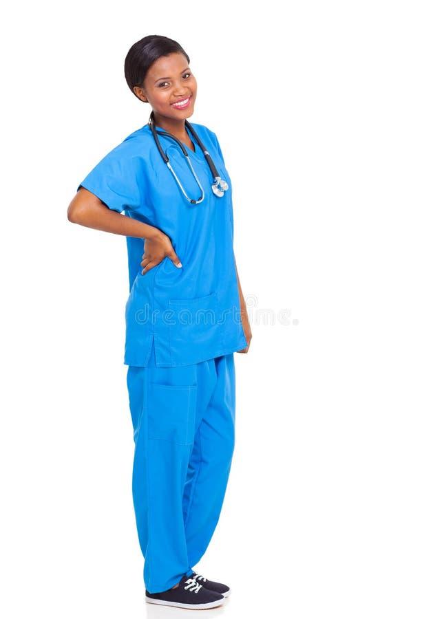 Enfermeira africana isolada imagens de stock
