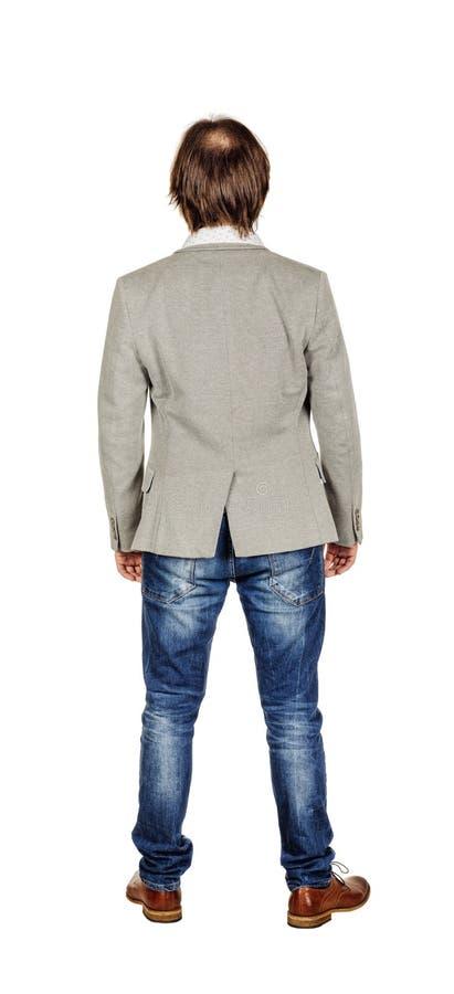 Retrato completo do comprimento de um homem de negócio foto de stock