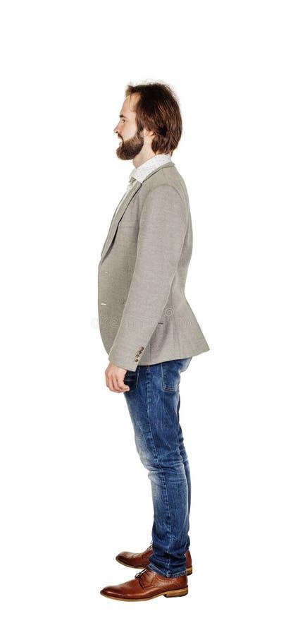 Retrato completo do comprimento de um homem de negócio fotografia de stock