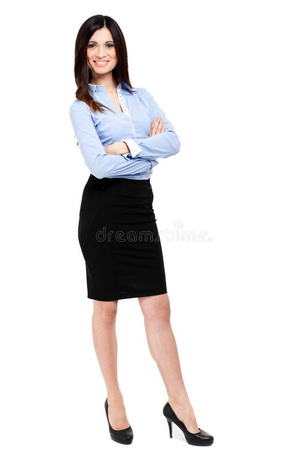 Comprimento completo da mulher de negócios foto de stock
