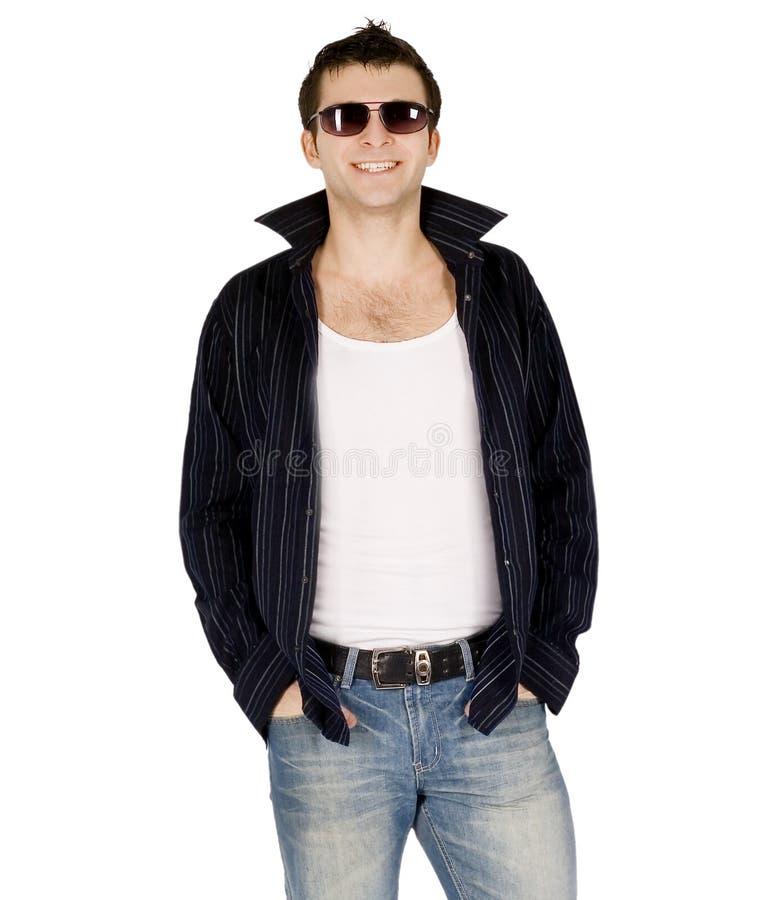 Retrato completo do corpo de um homem ocasional fotos de stock royalty free