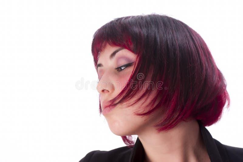 Retrato con el pelo rojo fotos de archivo
