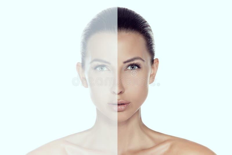 Retrato conceptual do brunette novo bonito que olha o camer fotos de stock royalty free
