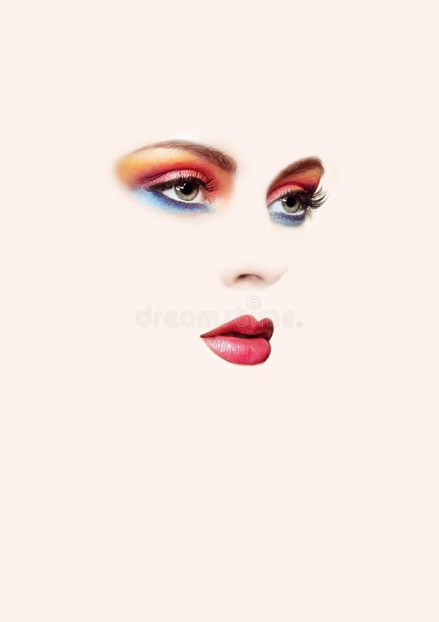 Retrato conceptual de la belleza de la mujer joven hermosa imagenes de archivo