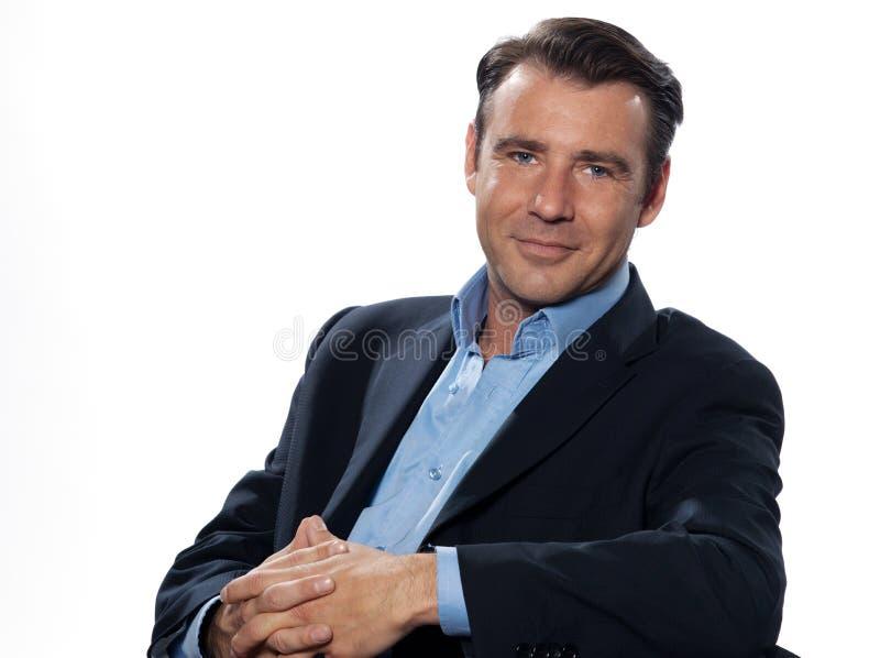 Retrato considerável do homem do homem de negócios fotografia de stock royalty free