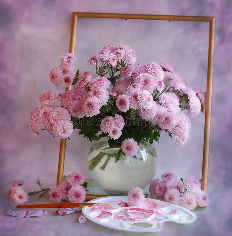 Retrato cor-de-rosa fotografia de stock