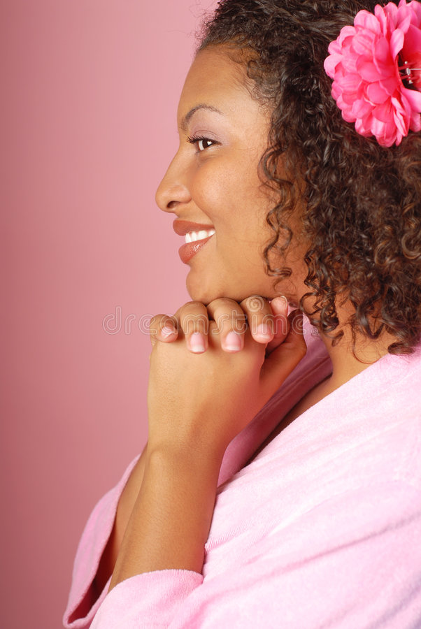 Retrato cor-de-rosa dos termas foto de stock royalty free