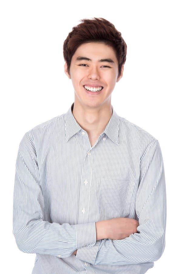 Retrato coreano asiático do leste do estúdio do homem novo fotografia de stock