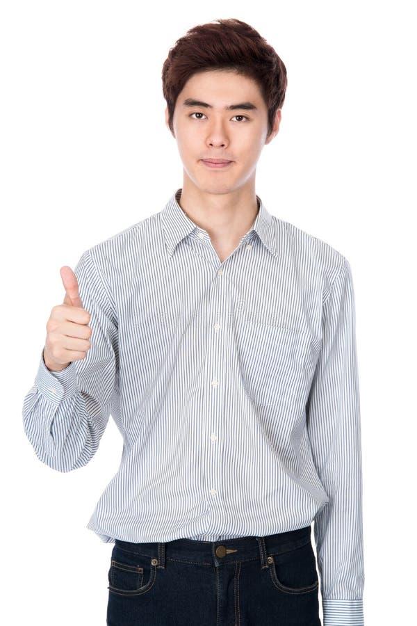 Retrato coreano asiático do leste do estúdio do homem novo imagens de stock