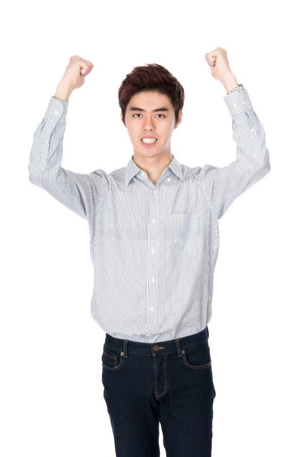 Retrato coreano asiático do leste do estúdio do homem novo foto de stock