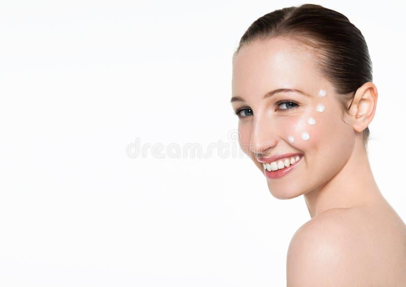 Retrato cosmético saudável da composição da mulher da beleza fotos de stock royalty free