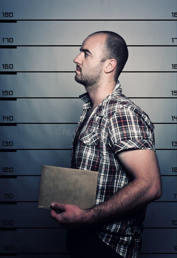 Retrato criminal fotografía de archivo