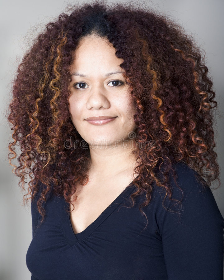Retrato Curly fotos de stock