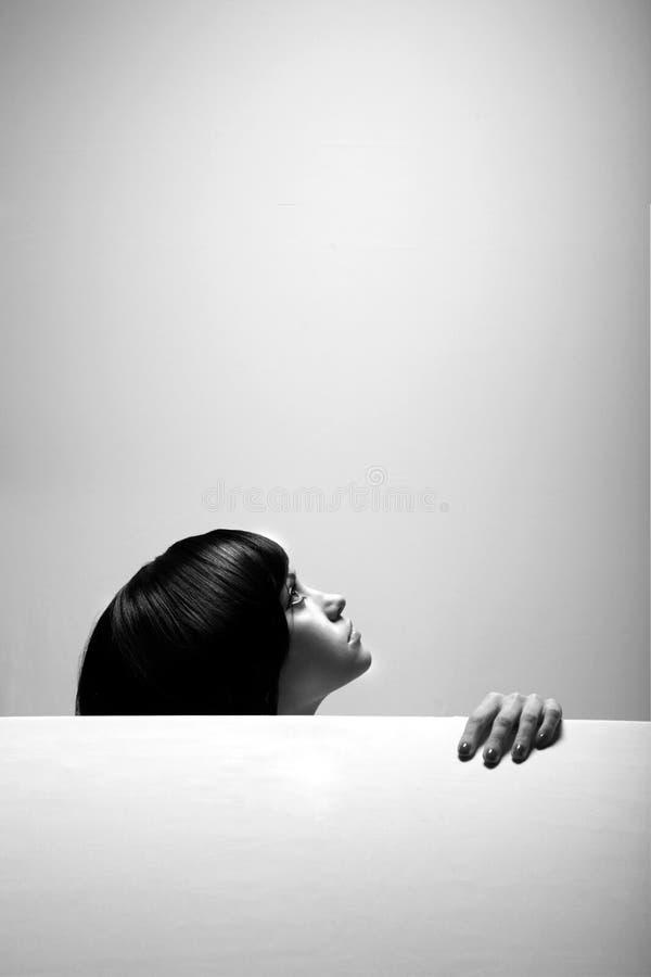 Retrato da bela arte da menina elegante imagens de stock