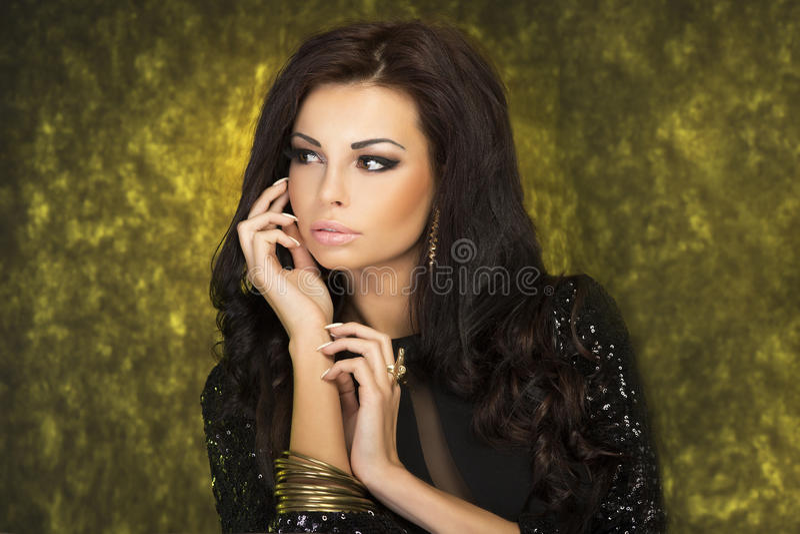 Retrato da beleza. imagem de stock