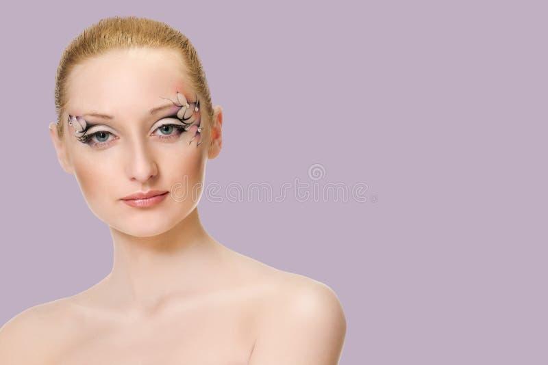 Retrato da beleza Composi??o creativa fotos de stock royalty free