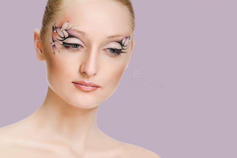 Retrato da beleza Composi??o creativa fotografia de stock royalty free