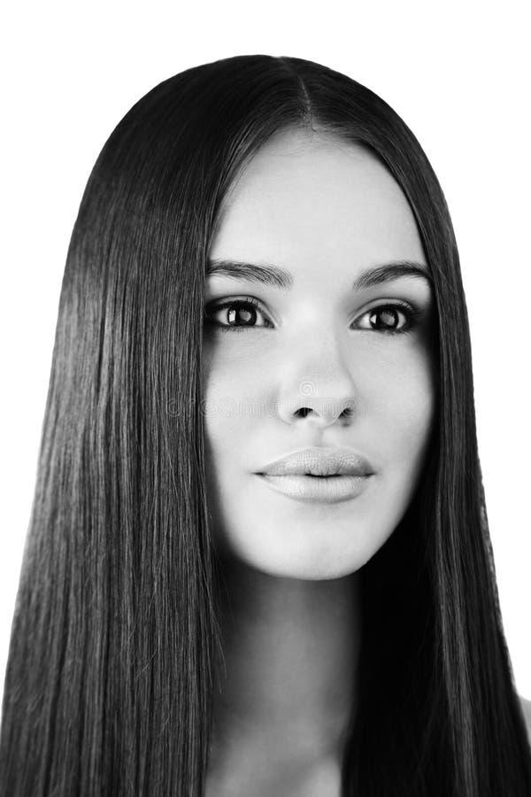 Retrato da beleza da jovem mulher com composição natural fotos de stock