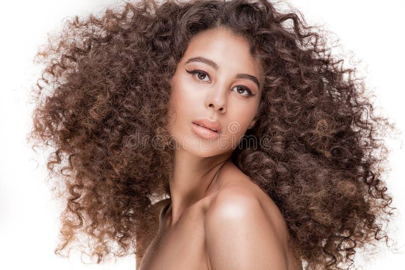 Retrato da beleza da menina africana foto de stock royalty free