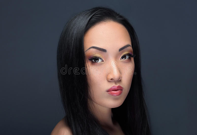 Retrato da beleza da menina asiática considerável fotos de stock