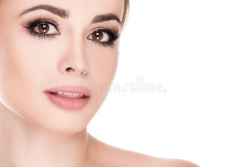 Retrato da beleza da menina natural nova imagem de stock royalty free