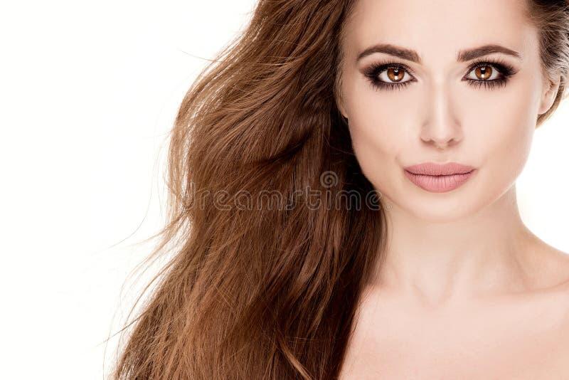 Retrato da beleza da menina natural nova fotos de stock