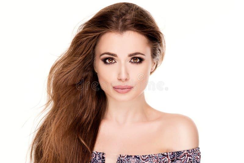 Retrato da beleza da menina natural nova imagem de stock