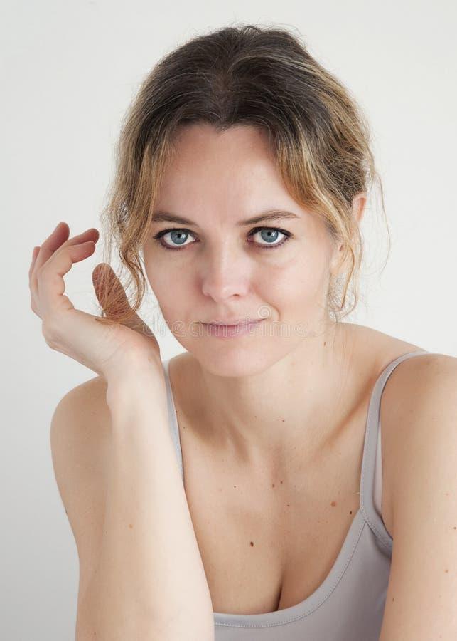 Retrato da beleza da mulher fotografia de stock
