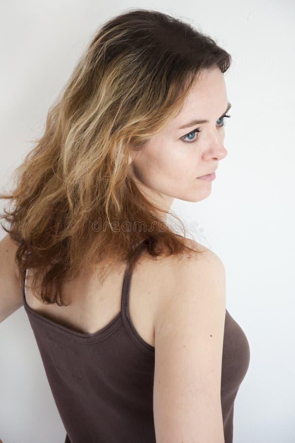 Retrato da beleza da mulher foto de stock