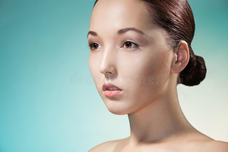 Retrato da beleza da mulher asiática fotografia de stock royalty free
