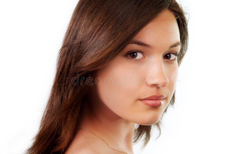 Retrato da beleza da mulher nova pura natural imagem de stock