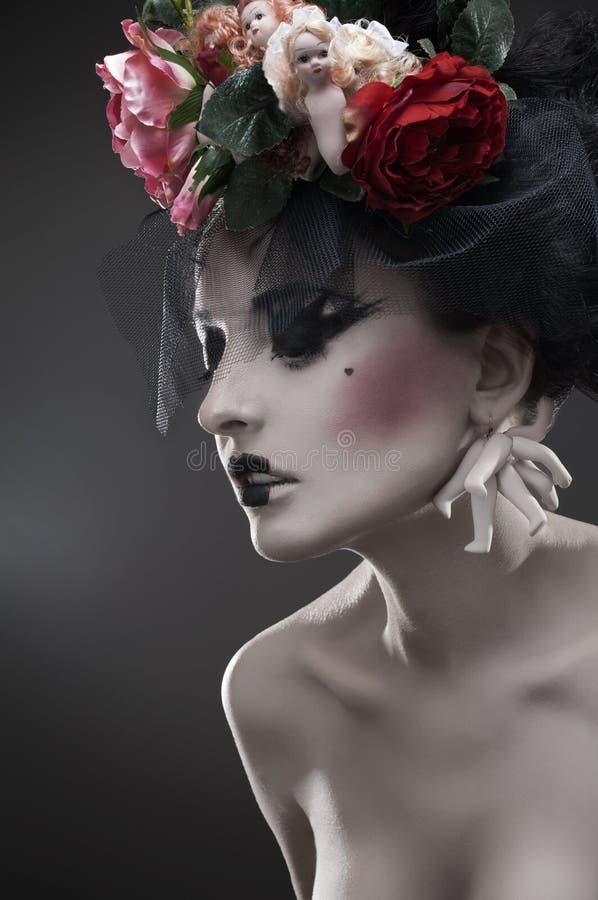 Retrato Da Beleza Da Mulher Pálida Foto de Stock