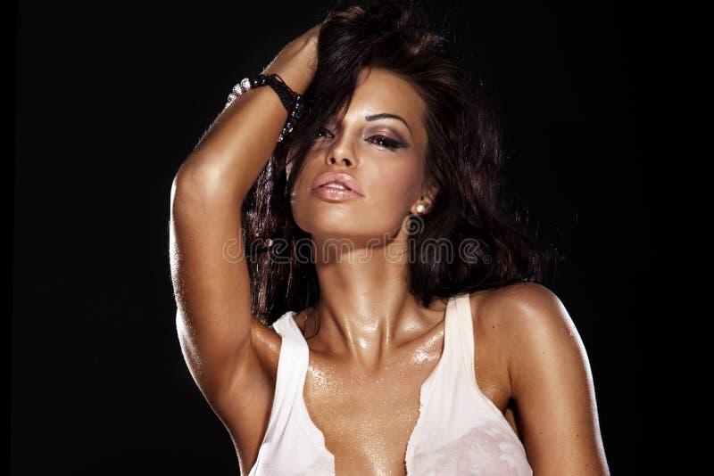 Retrato da beleza da mulher 'sexy' foto de stock