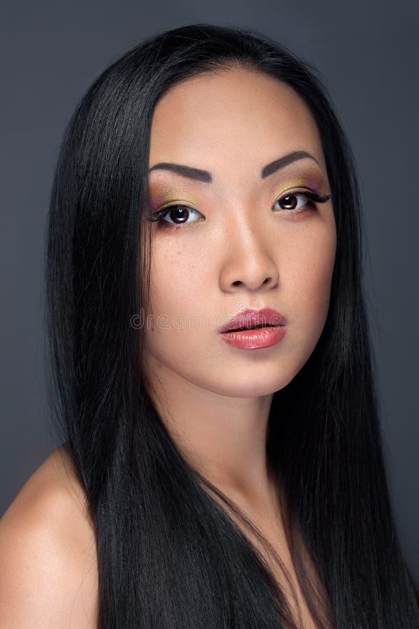 Retrato da beleza do modelo asiático considerável fotografia de stock