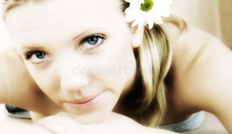 Retrato da beleza do Wellness fotos de stock
