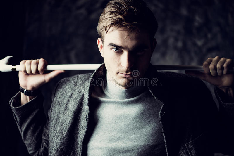 Retrato da beleza dos homens imagens de stock royalty free