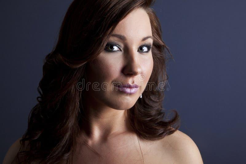 Retrato da beleza da forma da menina bonita Composição profissional fotografia de stock royalty free