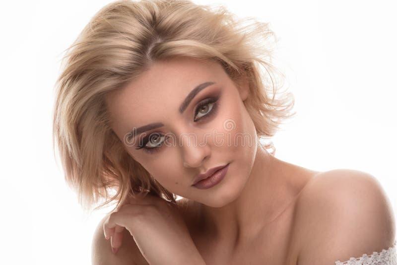 Retrato da beleza da mulher sensual loura fotos de stock royalty free