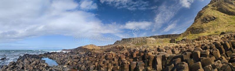Retrato da calçada do gigante em Irlanda do Norte. imagem de stock