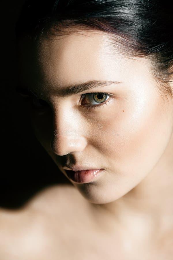 Retrato da cara da mulher imagens de stock