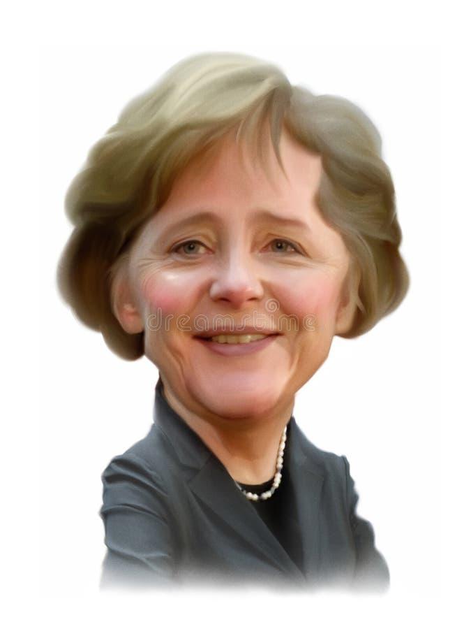 Retrato da caricatura de Angela Merkel