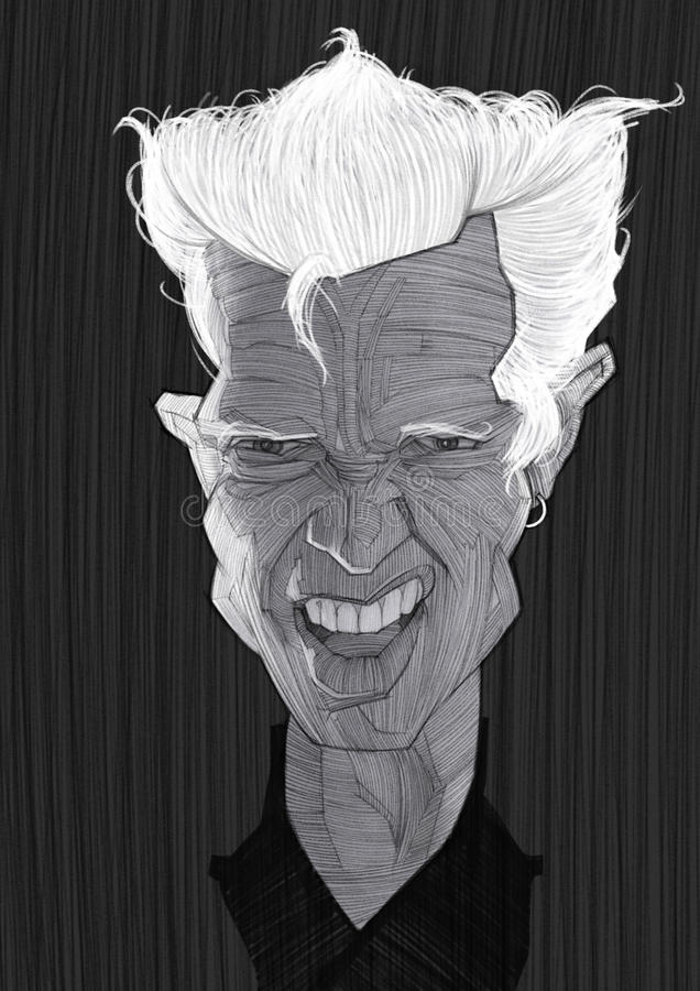 Retrato da caricatura do ídolo de Billy fotos de stock royalty free
