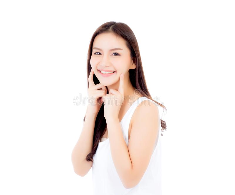 Retrato da composição asiática bonita da mulher do cosmético imagens de stock royalty free