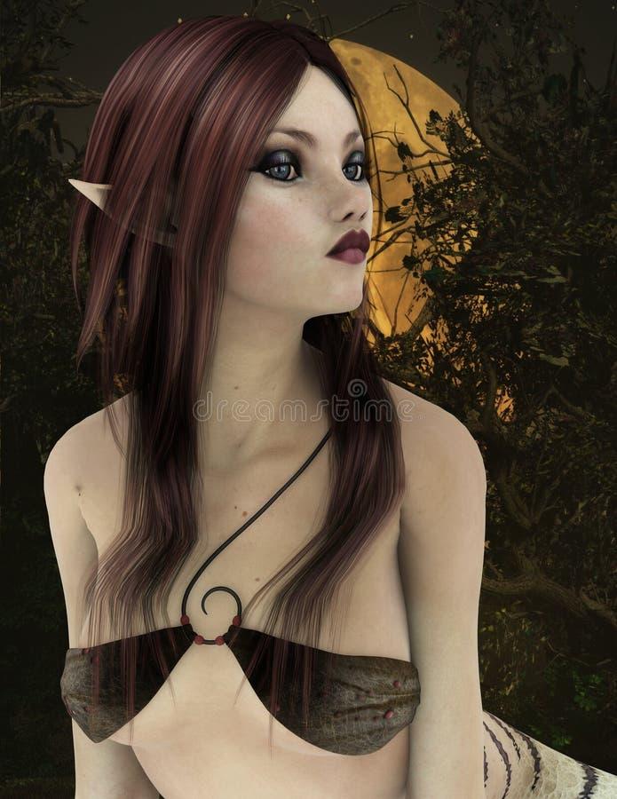 Retrato da criatura da rã, CG 3D ilustração stock